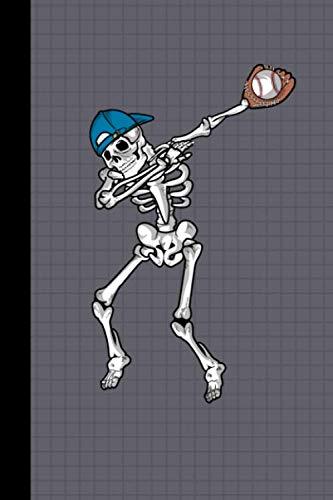 Dabbing Skeleton Baseball Player Journal Notebook: Halloween Team