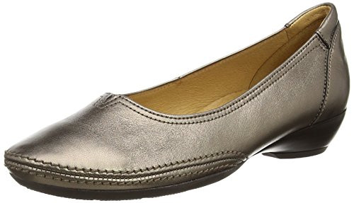Plateado para Leather Silver mujer Change Metallic Gabor Bailarinas Zn7xIqUwnf