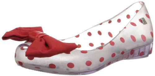Mini Melissa Melissa Ultragirl + Minnie Flat (Little Kid),Clear,12 M US Little Kid