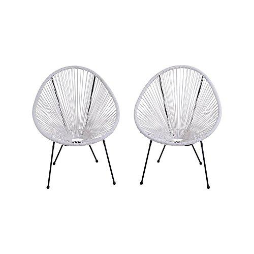 Acapulco Patio Chair Outdoor Gift Idea CM-0104 White