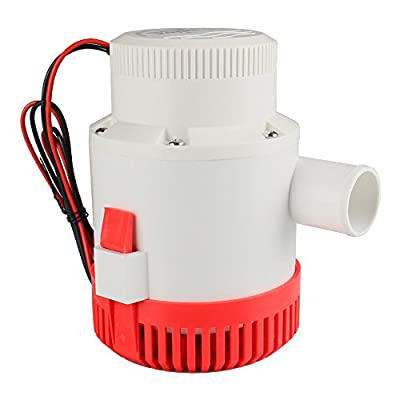 "12 V Bilge Pump, Bang4buck 3500 GPH 12A Boat Marine Plumbing Water Pump- 1-1/8"" Outlet"