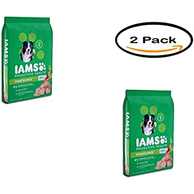 Iams Pack of 2 Proactive Health Adult Minichunks Dry Dog Food 15 Pounds