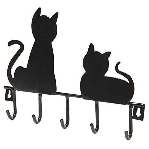 Wall Mounted Hanging Purse/closet Rack 5 Hook with Black Cats - Purse N Small Organizer