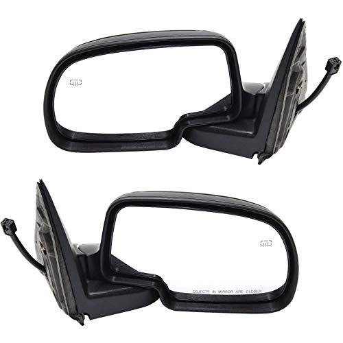 Power Mirror compatible with Chevy Silverado/Sierra 99-07 Right and Left Side Manual Folding Heated and Signal Light W/Puddle Light Paintable Includes 2007 Classic