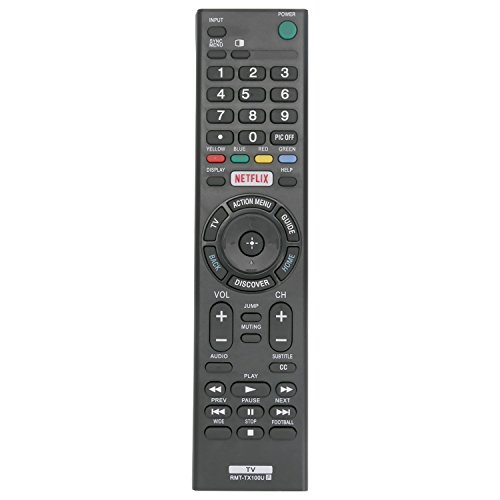 New RMT-TX100U Replaced Remote fit for Sony Bravia TV XBR-65X890C XBR-55X890C XBR-55X850C XBR-49X830C XBR-43X830C XBR-75X880C KDL-75W850C KDL-65W850C XBR-75X940C XBR-65X930C XBR-75X850C XBR-65X850C