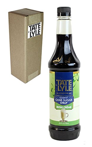 Tate+Lyle Fairtrade Impeccable Cane Sugar Syrup Irish Crème, 750mL (25.4oz) Bottle, Individually Boxed