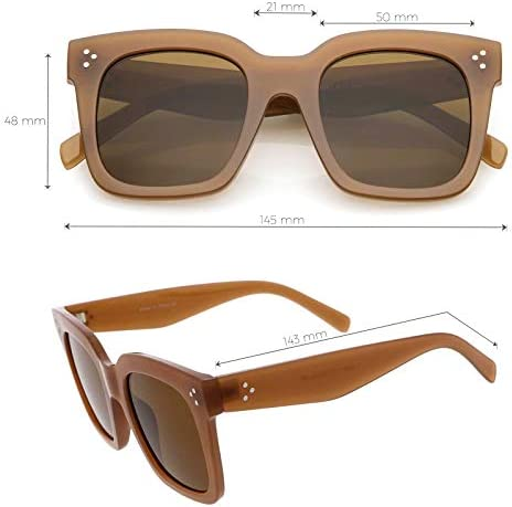 zeroUV - Retro Oversized Square Sunglasses for Women with Flat Lens 50mm