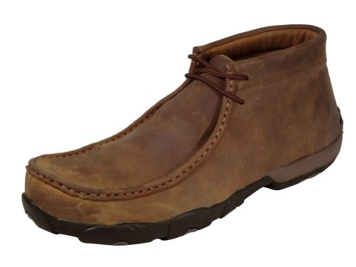 Twisted X Men's Driving Lace-Up Moccasin Shoes Steel Toe Bro