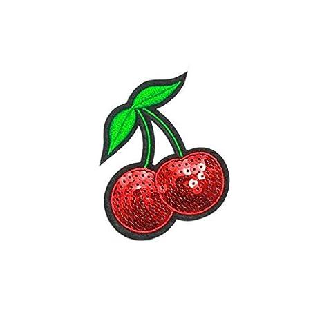 Keyi le Calidad Apliques Bordados con Lentejuelas de Cerezo cosen la Insignia de Parche para Accesorios