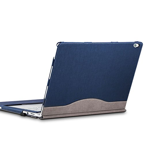 Laptop Cover Case for Microsoft Surface Book 2 13.5 inch – Premium PU Leather Detachable Protective Flip Folio Case, Two Ways to use (Surface Book 2 13.5-inch, Blue) -  AZXCG
