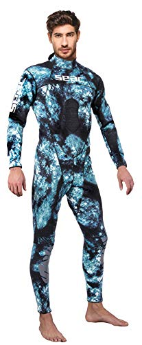 SEAC Men's Body-Fit 1.5mm Neoprene Wetsuit, Camo, XX-Large