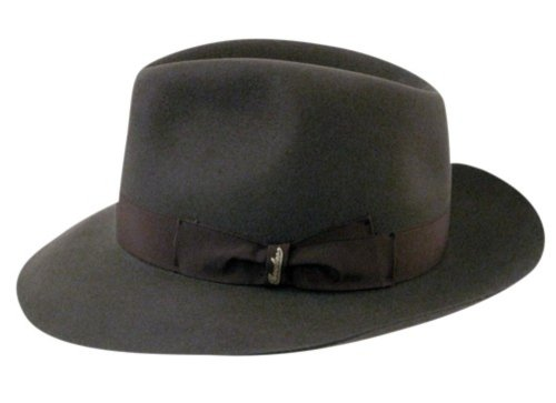 d39afa95188 Borsalino Mens Wb Traveler Fur Felt Fedora Hat Taupe 6 7 8  Amazon ...