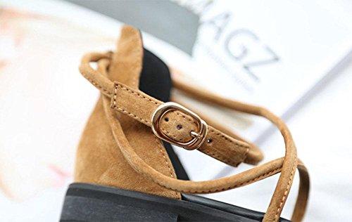 Low-Sandaletten Frauen Kreuzgurt Schuhe retro römischen Wort Schnalle Leder flache Sandalen black