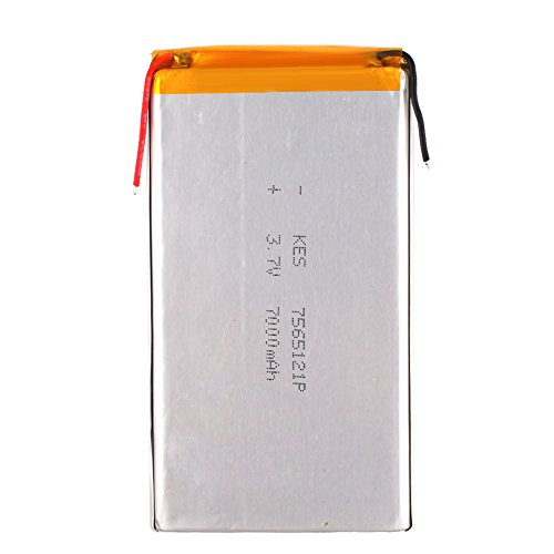 Eachbid Universal Replacement 3.7V 7000mAh Modle 7565121P Li-Polymer - Tablet Replacement Battery