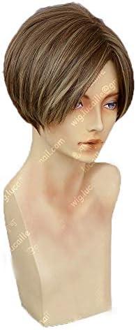 KK Resident Evil レオン バイオハザード ヴェンデッタ cosplay コスプレ ウィッグ 仮装用 wig 小物