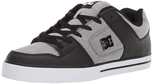 DC Men's Pure SE Skate Shoe, Grey, 11.5 M US