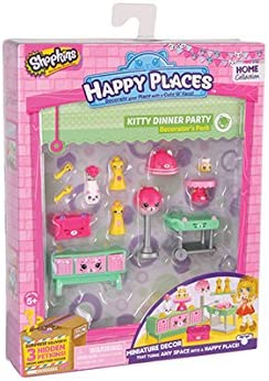 Happy Places Shopkins Season 1 Decorator Pack Kitty Dinner Party