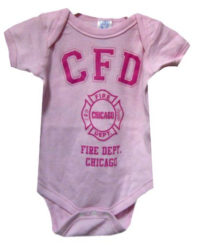 Chicago Fire Department Baby Creeper (18 Months, Pink)