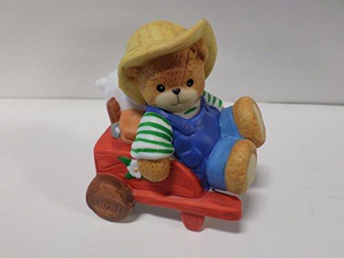 Lucy & Me Series (Enesco) **Boy Bear Gardener with Wheelbarrow FIgurine** 107719