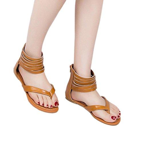 Marrone Basso Sandali Styledresser Donna Donna Scarpe Peep Tacco Sandali Casuale Eleganti Signore Romano Estivi Spiaggia Toe C0Udwq0Z