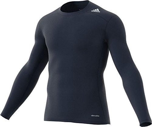 adidas Men's Techfit Base Layer Long Sleeve Tee, Navy Medium ()