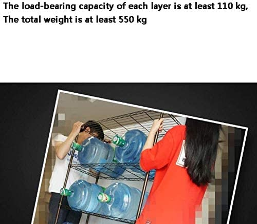 lcy Supermarché étagères Etagère ménagers 5 étagères de Niveau Accueil Cuisine Rangement Etagères de Stockage Multi-Couches étagères métalliques de Fer