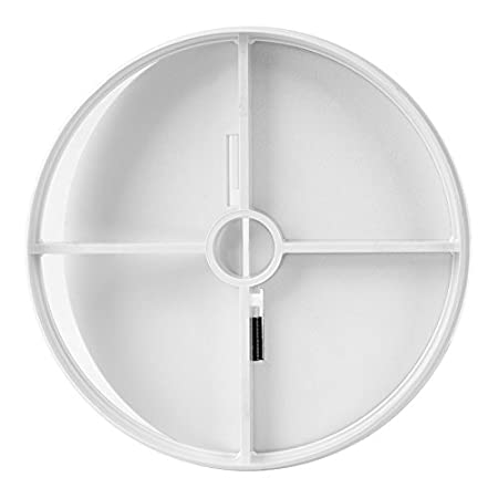 Clapet anti-retour Clapet anti-retour tube Ventilateur Ventilateur de tuyau ø 100mm Ø 120mm evxx, blanc Europlast