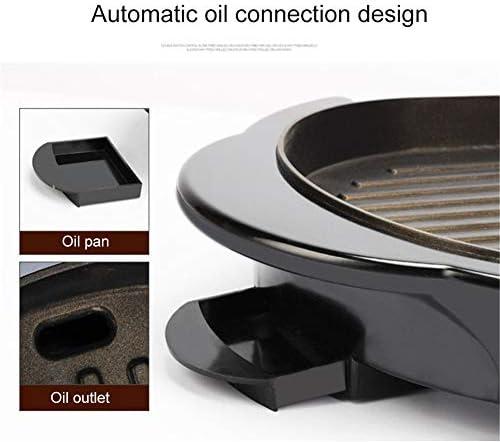 Ljings - Cuisinière électrique multifonctionnelle antiadhésive - Poignée en acier inoxydable - Avec indicateur lumineux et pieds antidérapants - 1500 W