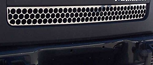 707 Motoring Fits Hummer H3 2006-2009 Stainless Steel Chrome Front Lower Grille Accent Trim 1PC