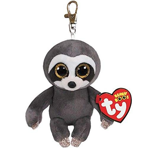 Big Eyes Plush Keychain Toy Doll Fox Owl Dog Unicorn Penguin Giraffe Leopard Monkey Dragon with Tag 4[ 10cm] (Sloth K) ()