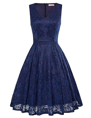 junior bridesmaid dresses in navy - 5