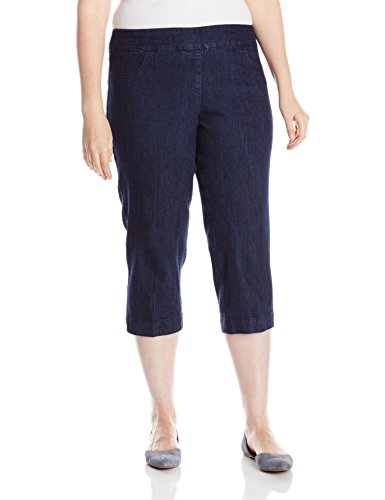 SLIM-SATION Women's Plus-Size Wide Band Pull On Straight ...
