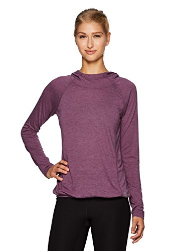 RBX Active Women's Lightweight Hooded L/S Pullover Workout Top Purple M