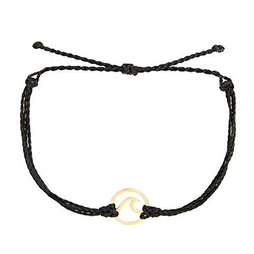 YBMYCM Rope Bead Bracelets Bright Bracelet - 100% Waterproof and Handmade w/Coated Charm Adjustable Band Statement Bracelet