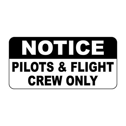 Iliogine Wall Decoration Tin Sign Notice Pilots & Flight Crew Only Retro Vintage Funny Home Sign Plaque for Women ()