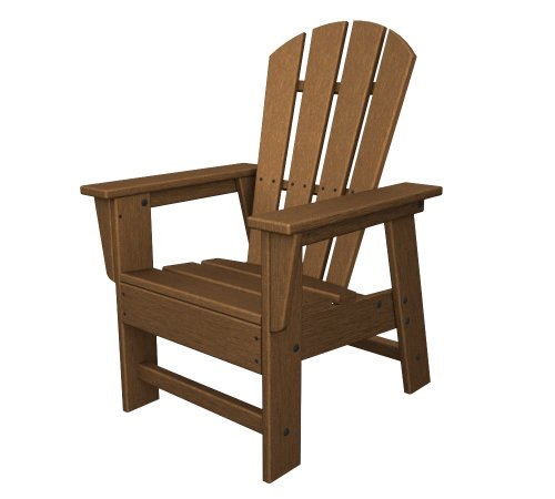 POLYWOOD SBD12TE Kids Casual Chair, Teak (Seating Teak Brown)