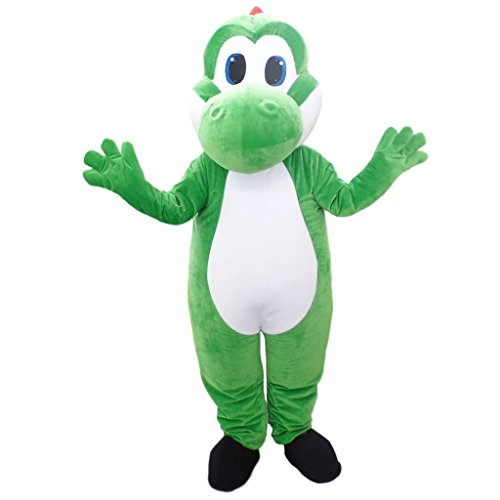 CosplayDiy Unisex Mascot Cosplay for Super Mario Yoshi Plush Mascot Costume XL