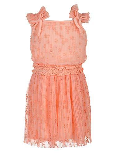 BCBG Girls Baby Girl's Flocked Mesh Dress (Toddler/Little Kids) Rose Petal 2T
