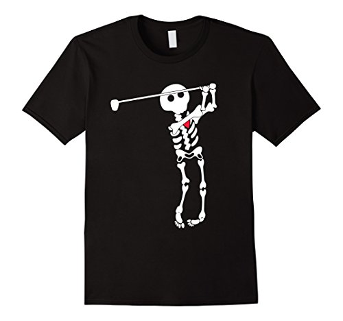Mens Golf skeleton halloween shirt XL Black (Funny Golf Halloween Costumes)
