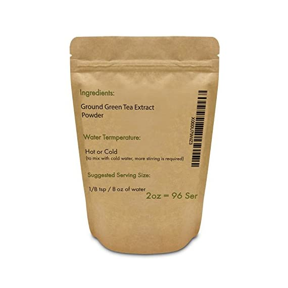 Instant Green Tea Powder - 100% Pure Tea - No Fillers, Additives or Artificial Ingredients of Any Kind 9 ✔ THE BEST GREEN TEA POWDER TO LOSE WEIGHT: Scientific studies have discovered that the main ingredients responsible for green tea slimming effects are caffeine and EGCG (epigallocatechin gallate). ✔ ONE SINGLE INGREDIENT: 100% pure green tea made from ground tea leaves. No flavors, preservatives, colors or fillers of any kind added. Not the diluted, off-tasting chemical filled product you're used to buying in the supermarket. This is as pure as it gets! ✔ HEALTHY ALTERNATIVE TO COFFEE: Minimally processed, and free of additives, Tea Factory Instant Green Tea offers a delicious, easy to consume instant tea that contains over one hundred times more antioxidants as compared to brewed tea.
