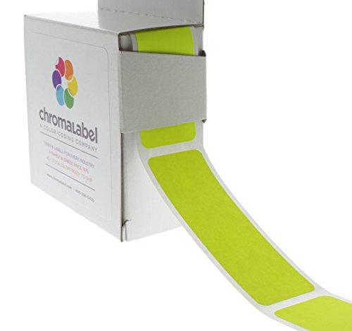 ChromaLabel 1 x 3 inch Color-Code Labels | 250/Dispenser Box (Fluorescent Yellow)