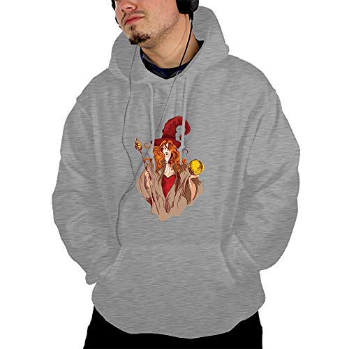 Ranhkdn Halloween Witch Drawstring Hoodies Hooded Pullover Sweatshirt -