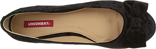 Flat Bow Black Accent UNIONBAY Ballet Women's Travis Sn1SpRO