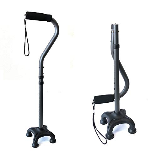 Ez2care Adjustable Folding Quad