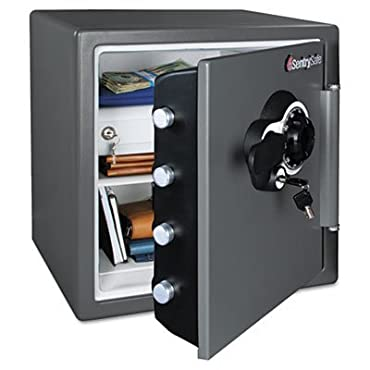 Sentry Safe Combination Water/Fire Resistant Safe, 16-3/8 x 19-3/8 x 17-7/8, Gray (SENSFW123DEB)