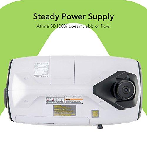 Atima SD1000i 1000 Watt Small Quiet Portable Inverter Generator, Carb Compliant Gas-Powered for ...