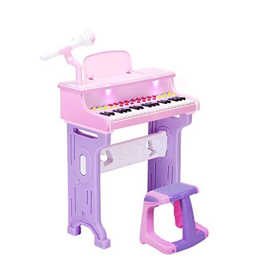 La mejor opción Teclado De Carga Para Niños 1-6 Años De Edad Juguete De Cumpleaños Para Niña Regalo De Bebé Para Piano...