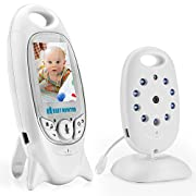 Video Baby Monitor, Carttiya Remote Wireless Infant Monitor with LCD Infrared Night Vision, Two Way Talkback System, Temperature Sensor, Lullabies, Long Range and High Capacity Rechargeable Battery