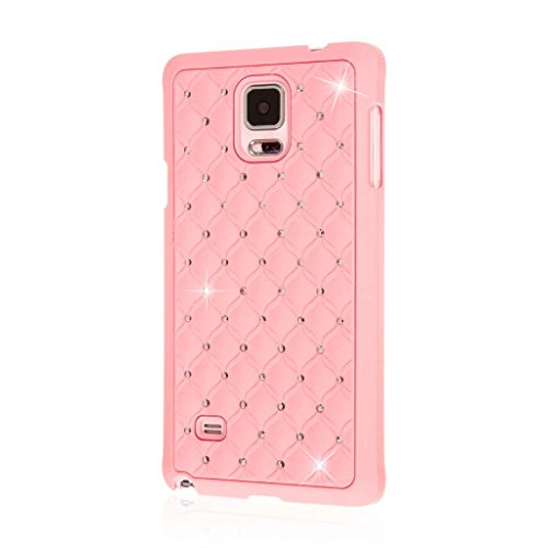 Glitz Jewel (Samsung Galaxy Note 4 Case, EMPIRE GLITZ Slim-Fit Raised Edge Sleek Eye Catching Crystal Jewels Design Hard Galaxy Note 4 Case (1 Year Manufacturer Warranty) - Bling Accent Pink)