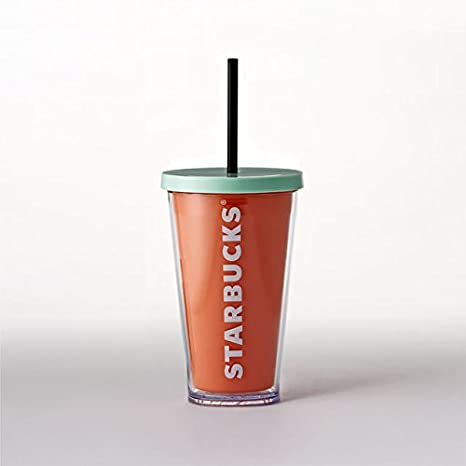 dd1df0592d3 Starbucks Acrylic Cold Cup Tumbler Orange 16 fl oz